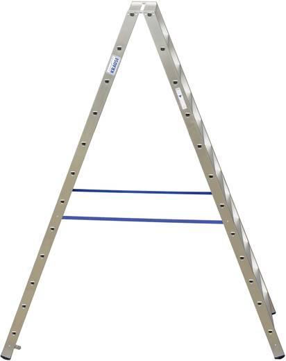 Aluminium Stufen-Doppelleiter Arbeitshöhe (max.): 4.35 m Krause Double échelle professionnelle (alu), 2 x 12 pcs 124784