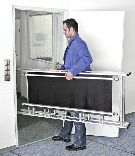 Aluminium Gerüst fahrbar Arbeitshöhe (max.): 2.80 m Krause Echafaudage hauteur de travail 2,90 m env. 950092 Silber, Sch