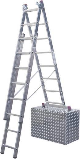 """Aluminium Mehrzweckleiter Arbeitshöhe (max.): 5.40 m Krause ALU-VIELZWECKLEITER """"TREPPENLEITER"""" 3X8 13385 Silber 12 kg"""