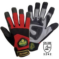 Pracovní rukavice, syntetická kůže, velikost XL (10), červené