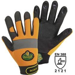 Pracovní rukavice, syntetická kůže, velikost M (8), oranžové