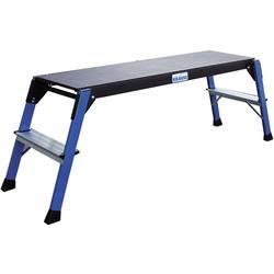 Image of Krause MONTO® StepTop® 130099 Aluminium Arbeitsplattform Arbeitshöhe (max.): 2.5 m Blau, Schwarz 9 kg
