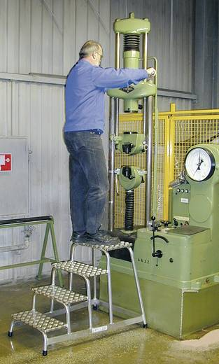 Aluminium Montagetritt Arbeitshöhe (max.): 2.40 m Krause MONTAGETRITT (ALU), 2 STUFEN 805027 Silber 5 kg