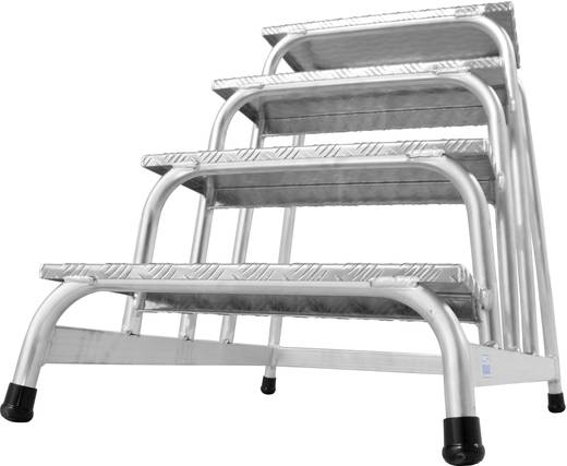 Aluminium Montagetritt Arbeitshöhe (max.): 2.80 m Krause 805041 Silber 9.8 kg