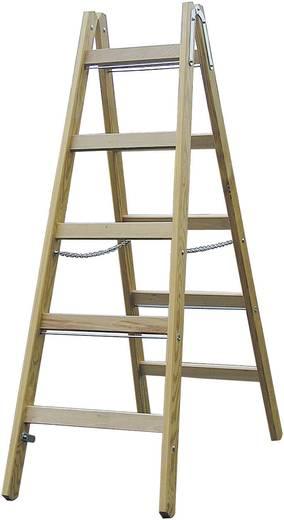 Holz Stufen-Doppelleiter Arbeitshöhe (max.): 2.75 m Krause Echelle à double barreau (bois) 2 X 4 barreaux 170064 Holz 6