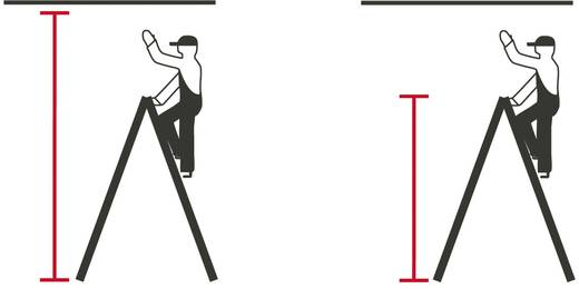 Holz Stufen-Doppelleiter Arbeitshöhe (max.): 3.25 m Krause Echelle à double barreau (bois), 2 x 6 barreaux 170088 Holz