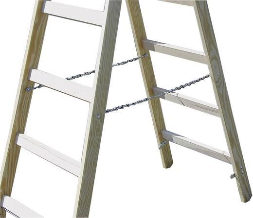 Holz Stufen-Doppelleiter Arbeitshöhe (max.): 4.80 m Krause Echelle à double barreau BOIS 2 X 12 barreaux 170149 Holz 21
