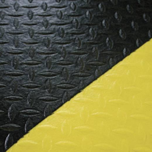 COBA Europe Arbeitsplatzmatte Orthomat® DIAMOND Schwarz, Gelb LxBxH (900 mm x 600 mm x 9 mm)