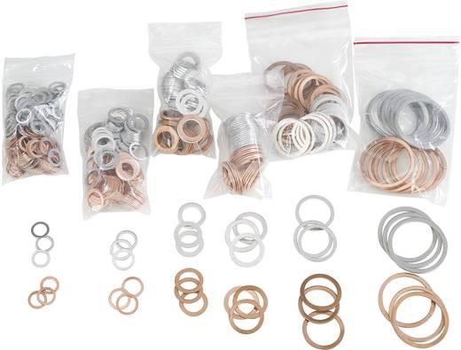 838521 650tlg. Kupfer-/Alu-Dichtung-Nachfüllsortiment DIN 7603 Inhalt 650 St. 2f. Lieferumfang 330 Kupfer-Dichtringe sor