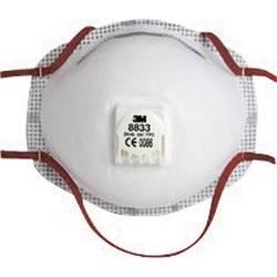 Respirátor proti jemnému prachu, s ventilem 3M 8833, třída filtrace FFP3, 10 ks