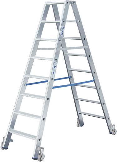 Aluminium Stufen-Doppelleiter fahrbar Arbeitshöhe (max.): 3.40 m Krause 124869 Silber 12.9 kg