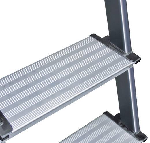 Aluminium Stufen-Stehleiter Arbeitshöhe (max.): 2.85 m Krause 126429 Silber 4.2 kg