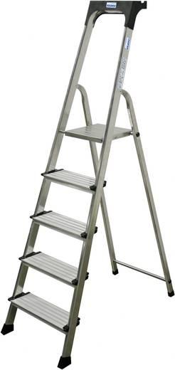 Aluminium Stufen-Stehleiter Arbeitshöhe (max.): 3.05 m Krause 126436 Silber 5.1 kg