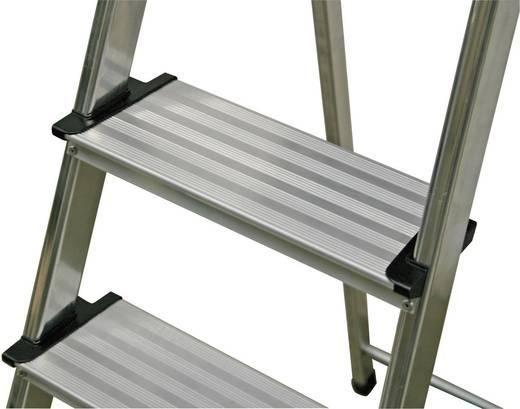 Aluminium Stufen-Stehleiter Arbeitshöhe (max.): 3.75 m Krause 126467 Silber 7.8 kg