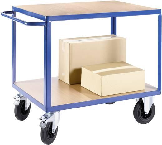 Etagenwagen Stahl pulverbeschichtet Traglast (max.): 500 kg Enzianblau (RAL 5010)