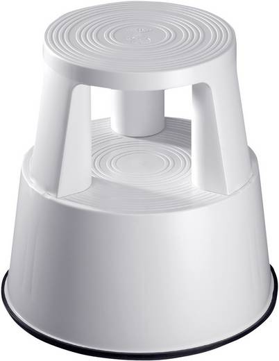 Kunststoff Rolltritt fahrbar Arbeitshöhe (max.): 2.40 m Grau 2.5 kg