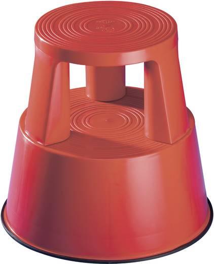 Kunststoff Rolltritt fahrbar Arbeitshöhe (max.): 2.40 m Rot 2.5 kg