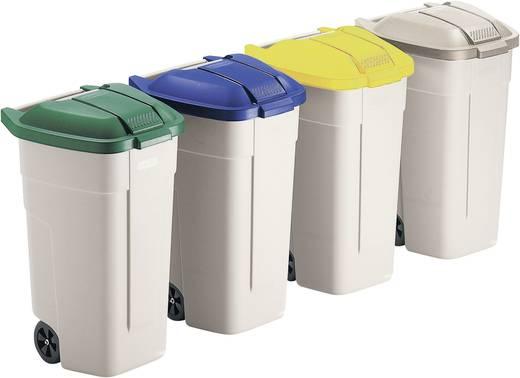 Mülltonne 100 l (L x B x H) 530 x 510 x 850 mm Beige Fahrbar 1 St.
