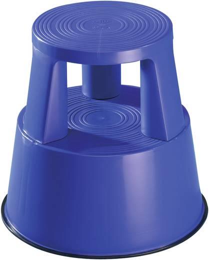 Kunststoff Rolltritt fahrbar Arbeitshöhe (max.): 2.40 m Blau 2.5 kg