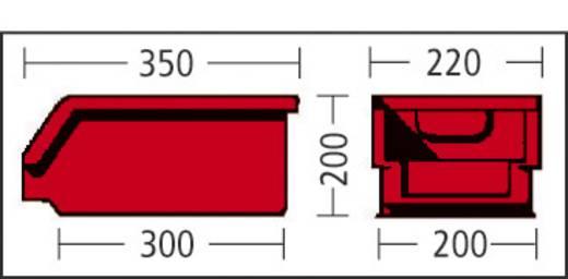 Sichtlagerkasten (B x H x T) 209 x 200 x 343 mm Rot LF322 GZW 1 St.