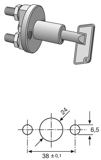 Kfz-Sicherheitsschalter 12 V/DC 50 A 1 x Aus/Ein rastend Hella 6EK 002 843-002 IPX2 (DIN 40050) 1 St.