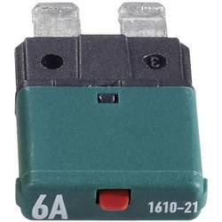 Automatická plochá pojistka CE1610-21-6A, 6 A, tmavě zelená