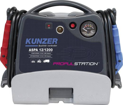 Kunzer Schnellstartsystem AKKU-Start 12V mit Ladestation DC/DC ASPD 12/1200 DC/DC Starthilfestrom (12 V)=1200 A
