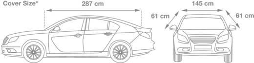 cartrend PKW-Halbgarage (L x B x H) 287 x 145 x 61 cm Größe L Audi A4, BMW 3er, Opel Insignia, VW Passat und vergleichba