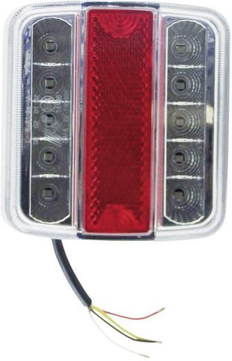 Berger & Schröter LED Anhänger-Rückleuchte Blinker, Bremslicht, Rückleuchte, Kennzeichenleuchte links 12 V Rot, Silber K