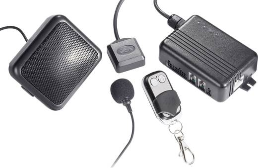 Auto Alarmanlage GKA100 Mobiltelefon kompatibel, Fahrzeugortung, Autotelefon-Funktion, Erschütterungssensor, Inkl. Fernbedienung 6 V, 12 V, 24 V, 32 V