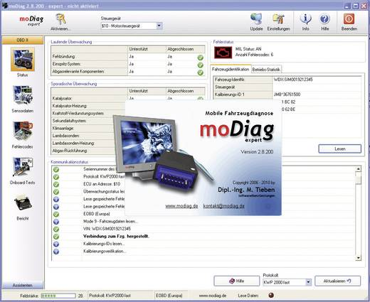 OBD II-Software moDiag Diamex 4853010