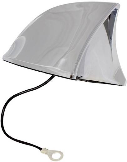 Kunststoff Auto-Haifischantenne Chrom (B x H x T) 115 x 75 x 65 mm Eufab -antenne Shark chroom