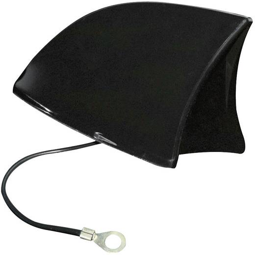 Kunststoff Auto-Haifischantenne Schwarz (B x H x T) 115 x 75 x 65 mm Eufab -antenne Shark zwart