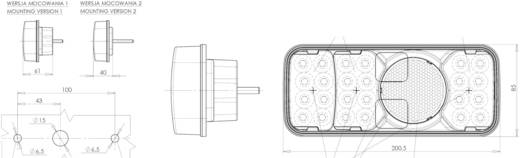 LED Anhänger-Rückleuchte Bremslicht, Blinker, Rückleuchte, Nebelschlussleuchte links 12 V, 24 V SecoRüt