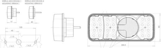 LED Anhänger-Rückleuchte hinten, links, rechts 12 V, 24 V SecoRüt