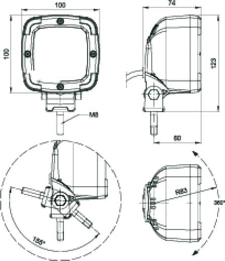 Arbeitsscheinwerfer SecoRüt 12 V, 24 V, 36 V, 48 V (B x H x T) 100 x 100 x 75 mm 1300 lm