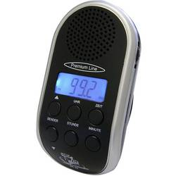 Rádio na bicykel s LED reflektorom, Security Plus BR 24, čierna, strieborná