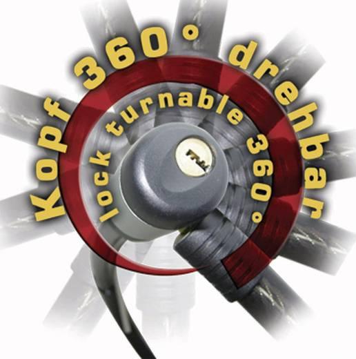 Kabelschloss Security Plus K86 Schwarz Schlüsselschloss