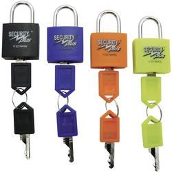 Visací zámek sada 4 ks Security Plus V 22-4, (d x š x v) 13 x 24 x 40 mm, neonově žlutá, modrá, oran