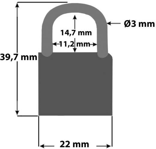 Vorhängeschloss 4er Set Security Plus V 22-4 Neon-Gelb, Blau, Orange, Schwarz Schlüsselschloss