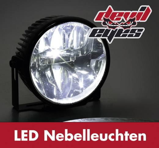 Nebelscheinwerfer LED (Ø x T) 90 mm x 60 mm Devil Eyes 610771 Devil Eyes LED-mistlampen