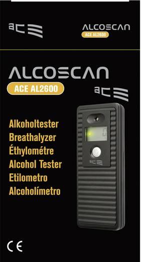 ACE AL-2600 Alkoholtester Schwarz 0 bis 4 ‰ inkl. Display