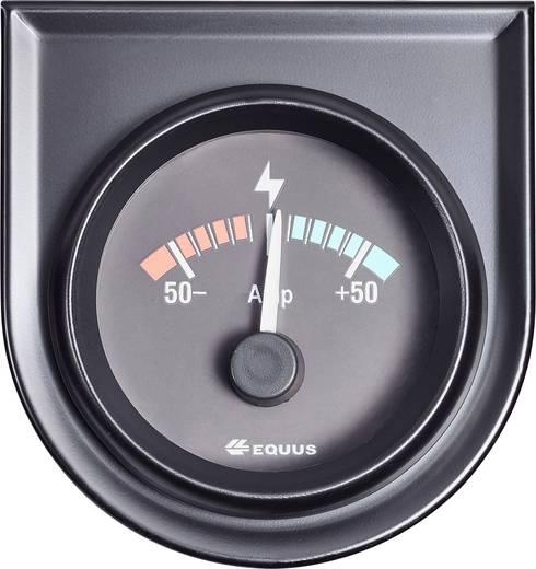 Equus 842052 Kfz Einbauinstrument Amperemeter Messbereich -50 - +50 A Standart Gelb, Rot, Grün 52 mm
