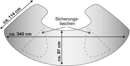 Scheibenabdeckung Front- & Seitenscheibenschutz, Diebstahlschutz (B x H) 340 cm x 97 cm APA Lkw, SUV, Van, Bus Schwarz