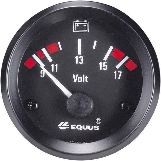 Equus 842060 Kfz Einbauinstrument Voltmeter Messbereich 9 - 17 V Standart Gelb, Rot, Grün 52 mm