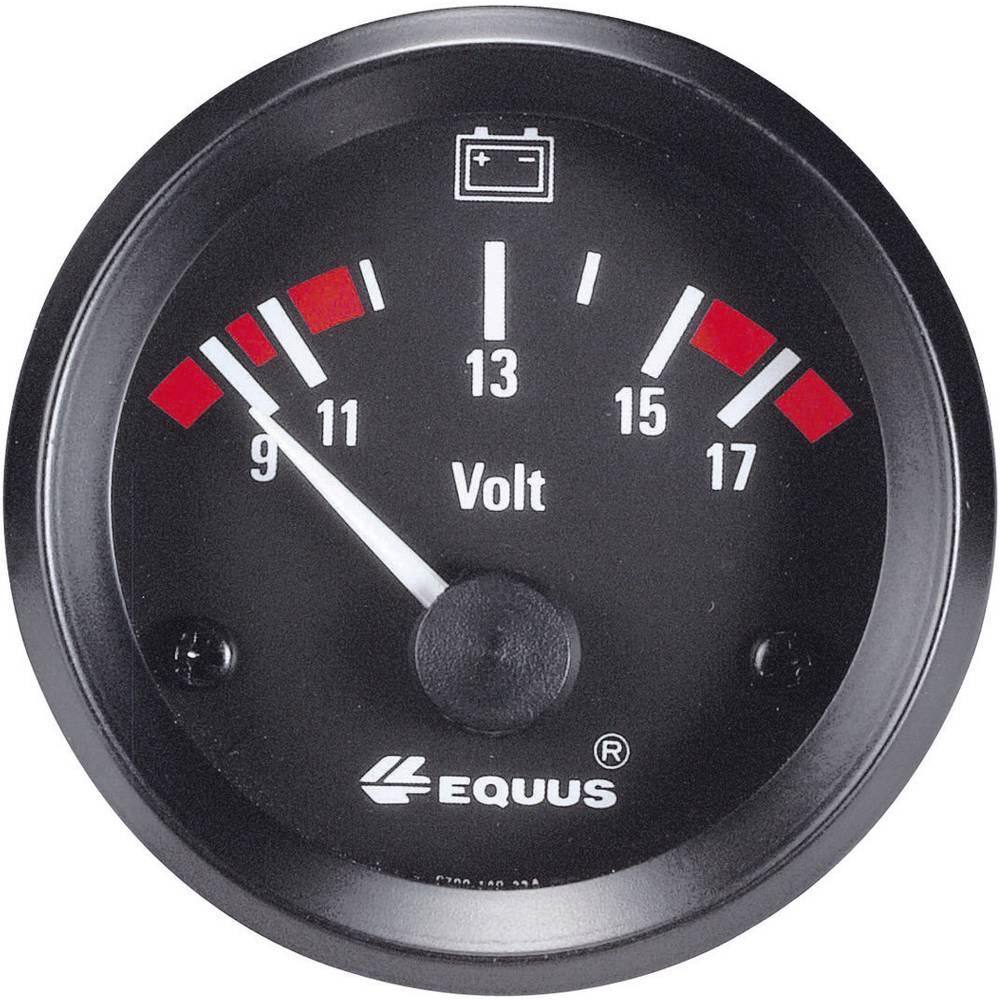 kfz einbauinstrument voltmeter messbereich 9 17 v equus 842060 standart gelb rot gr n 52 mm. Black Bedroom Furniture Sets. Home Design Ideas