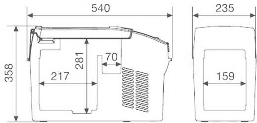 Kühlbox CoolFreeze CDF 11 12 V, 24 V Grau 10.5 l EEK=n.rel. Waeco