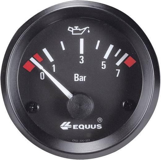 Kfz Einbauinstrument Öldruckanzeige Messbereich 0 - 7 bar Equus 842095 Standart Gelb, Rot, Grün 52 mm