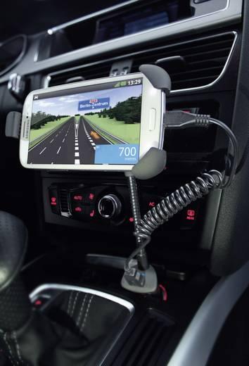 Ansmann Smartphone Kfz-Halter mit USB-Lader Belastbarkeit Strom max.=1500 mA Passend für (Details) Zigarettenanzünder