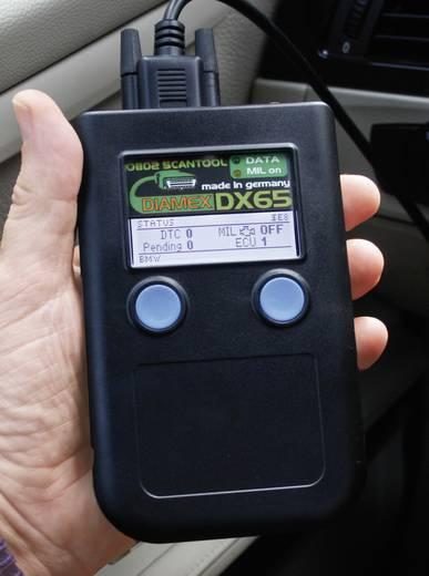 Diamex OBD II Diagnosetool DX65 7101 110 mm x 70 mm x 30 mm